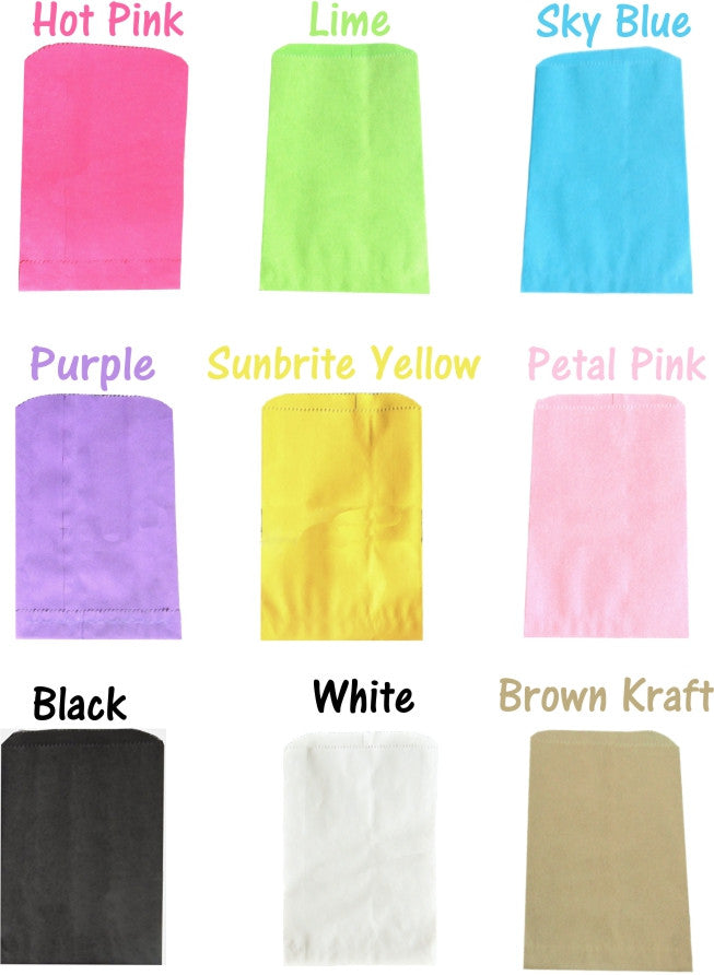 "5""x 7"" Colored Paper Merchandise Bags, Fun Party Eco Friendly Gift Bags - Wrappingmeup"