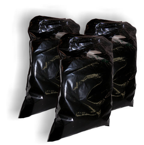 "Black Plastic Merchandise Bags size 15"" x 18"" x 4"" Colored Party Gift Bags With Handles"