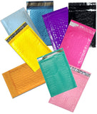 "Vibrant Color Combo 4"" x 8"" Poly Bubble Mailers, #000 Colored Padded Self Adhesive Envelopes - Wrappingmeup"