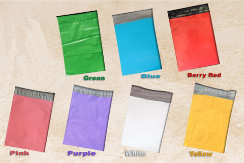6x9 inch Pink, Blue, Purple, Green, Red, Yellow Colored Flat Poly Mailer Wholesale Envelopes