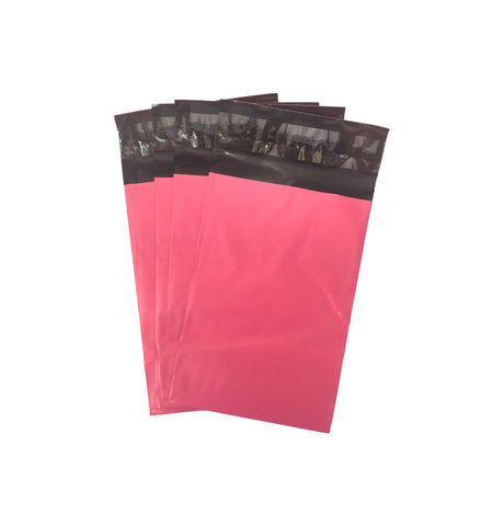 "5"" x 7"" Pink Flat Poly Self Sealing Poly Bag Mailers"