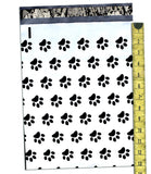 "Paw Print 10"" x 13"" Flat Poly Mailers, Animal Lovers Self Sealing Flat Envelope Mailers - Wrappingmeup"