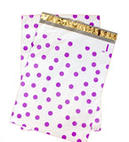"6"" x 9"" Colorful Polka Dot Poly Mailers, Hot Pink Teal Purple and Blue - Wrappingmeup"