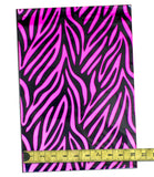 "Hot Pink Zebra 10"" x 13"" Flat Poly Mailers, Animal Lovers Self Sealing Flat Envelope TIger Striped Mailers - Wrappingmeup"