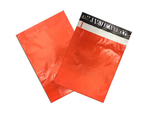 "10"" x 13"" Awesome Orange Flat Poly Mailers,  Self Sealing Colorful Shipping Flat Mailers"
