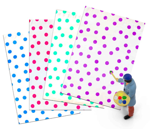 "12"" x 15"" Hot Pink Teal Purple and Blue Colorful Polka Dot Poly Mailers"