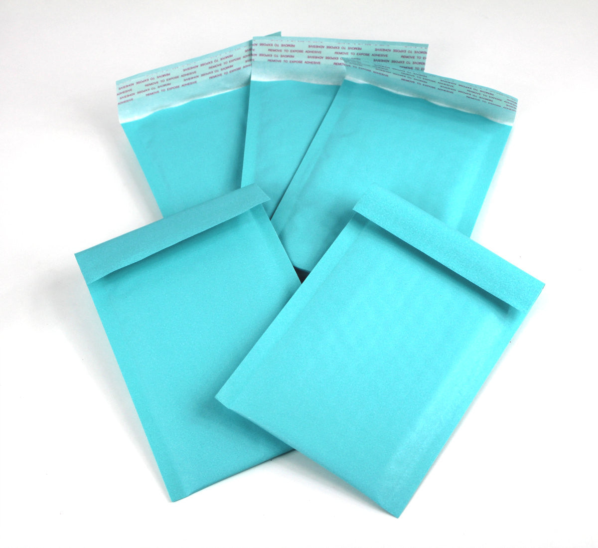 "Exclusive Aqua Kraft 4"" x 8"" Poly Bubble Mailers, #000 Colored Padded Self Adhesive Envelopes - Wrappingmeup"