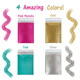 "6"" x 10"" Metallic Bubble Mailers, #0 Colored Padded Self Adhesive Envelopes"