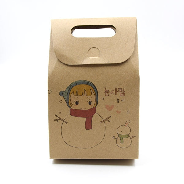 10PCS/Lot Kraft Paper Candy Boxes Christmas Gifts Supplies Guests Packaging Boxes Merry Christmas Favor Party Decorations - Wrappingmeup