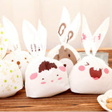 20pcs/lot Cute Rabbit Ear Cookie Bags Candy Biscuit Packaging Bag Wedding Candy Gift Bags party Supplies Send Random - Wrappingmeup