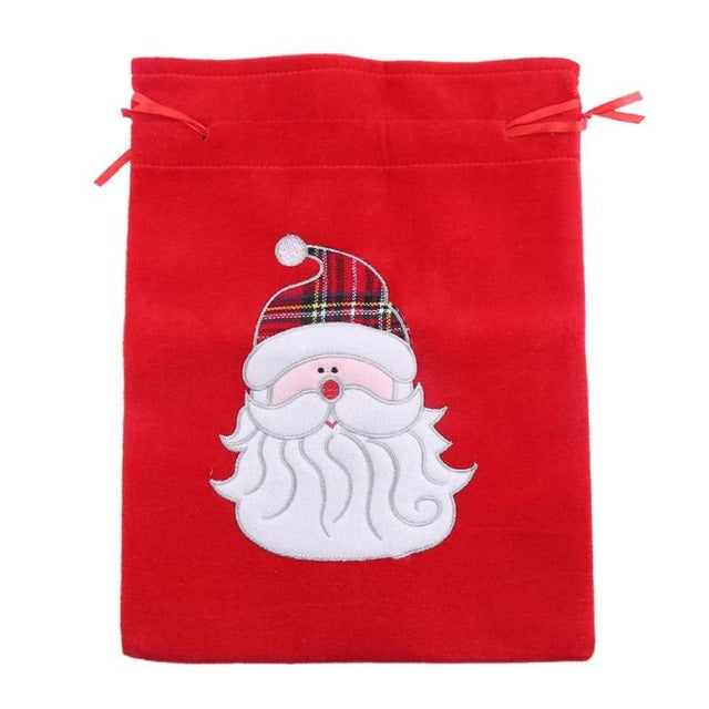 Merry Christmas Candy Packaging Bags Santa Claus Xmas Gifts Holders Navidad Gift Storage Bags Party Decoration Supplies - Wrappingmeup