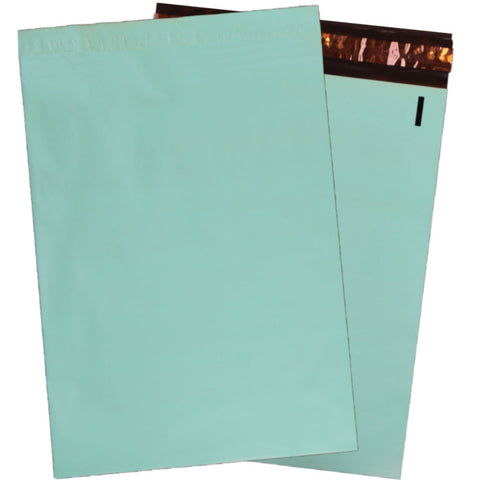 "10"" x 13"" Beautiful Teal Flat Poly Mailers,  Self Sealing Colorful Shipping Flat Mailers"