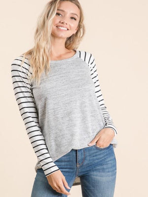 Matilda Striped Sleeve Top