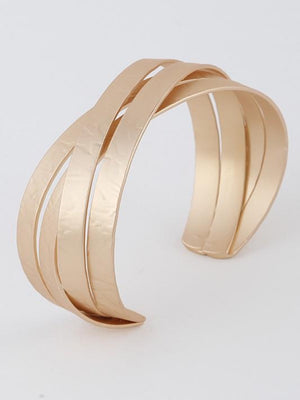 Simple Criss Cross Gold Bracelet