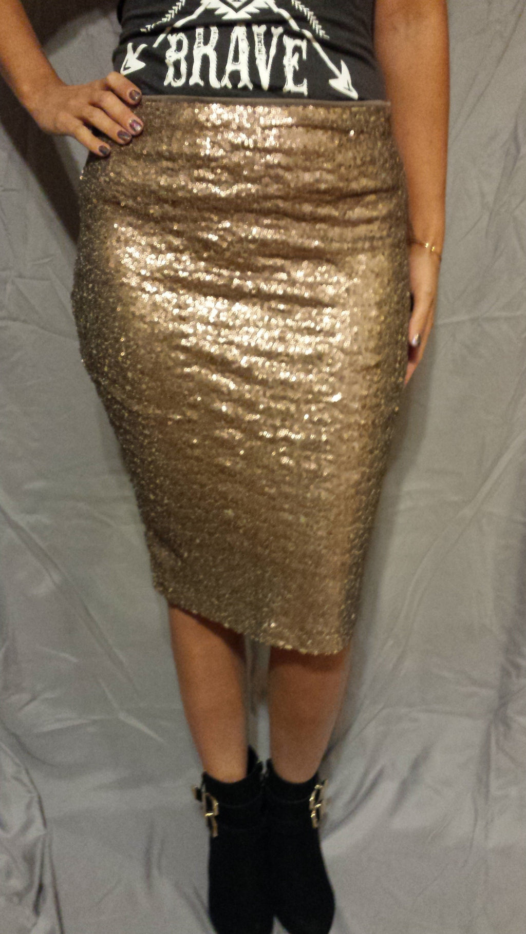The Night Is Young Sequined Skirt