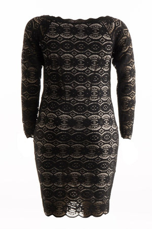 Curvy Lace Overlay Dress