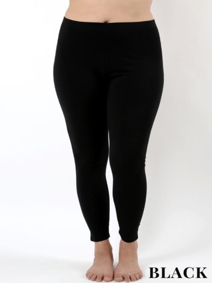 Curvy cotton leggings