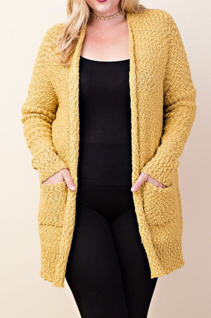 Knitted Draped Cardigan With Pockets