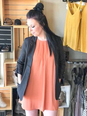 June Solid Tunic Dress