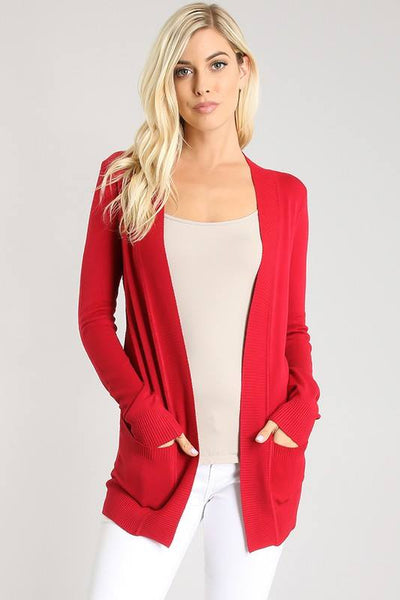 Curvy Open Front Cardigan
