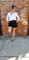 Maia Belted Cuffed Shorts