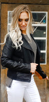 Ari Black Biker Jacket - Trendsetters Fashion Boutique