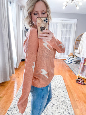 Bolt into Spring Sweater