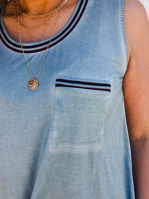 Vintage Pocket Tank Top