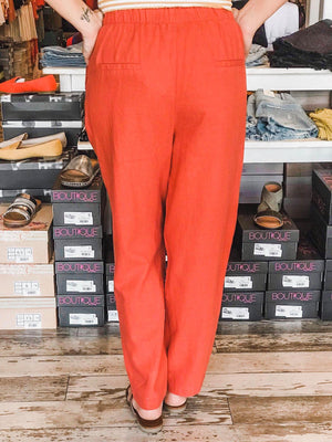 Heather Linen Pants