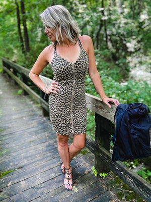Mandy Leopard Bodycon  Dress