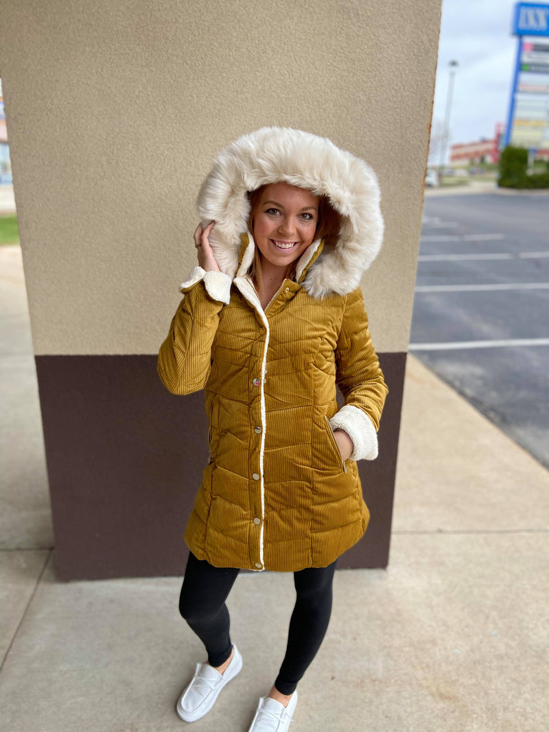 Jodi Long Hooded Quilted Coat