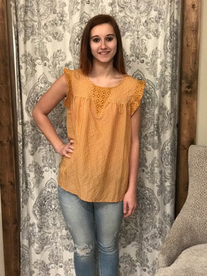 Ginger Boho Frill Top