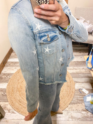 Abby Star Denim Jacket - Trendsetters Fashion Boutique
