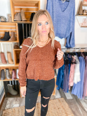Riley Chenile Cropped Sweater