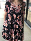 Tracy Floral T-shirt Dress