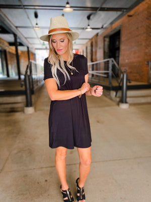 Curvy Round Neck T-shirt Dress
