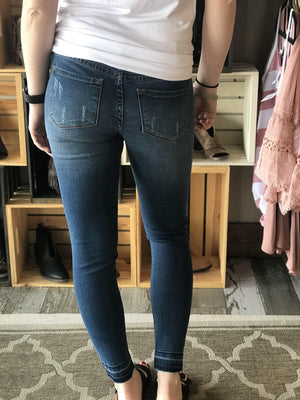 American Classic Distressed Ankle Jeans