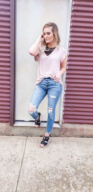 Louisa Slouchy V-neck Tee