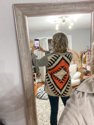 Aztec Sweater Jacket