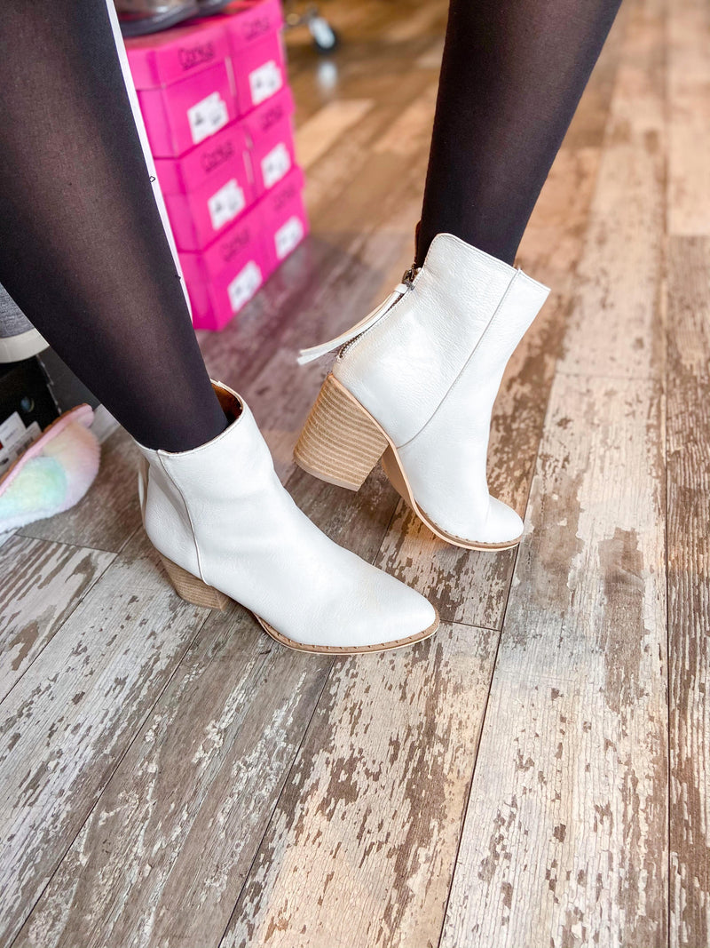 Weslee Booties with Zipper Back - Trendsetters Fashion Boutique