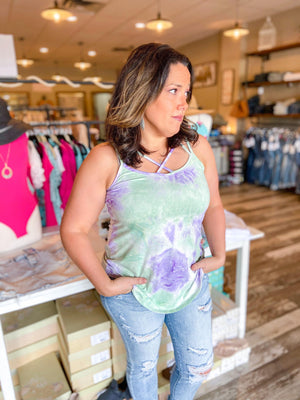 Andre Tie Dye Tank - Trendsetters Fashion Boutique