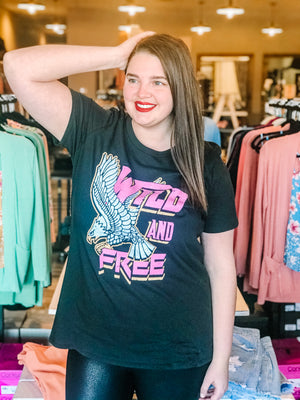 Wild and Free Curvy Graphic T-Shirt