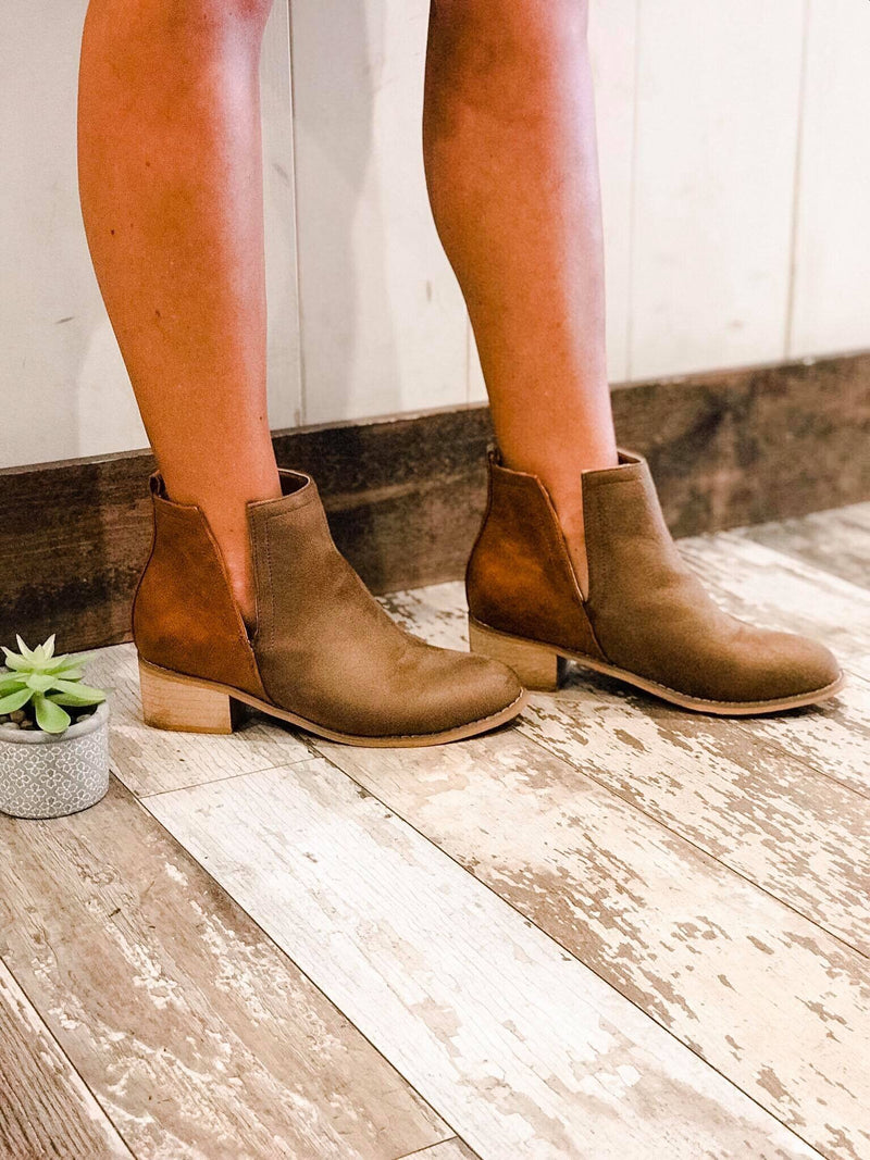 Shield Block Heel Booties