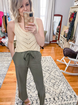 Sydney Woven Belted Pants