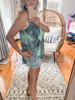 Monty Tie Dye Pleated Tank
