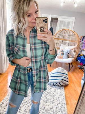 Daisy Plaid Shirt