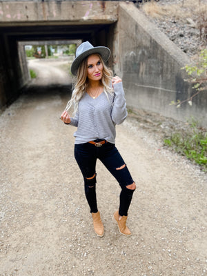 Tabitha Slouchy V-Neck Sweater