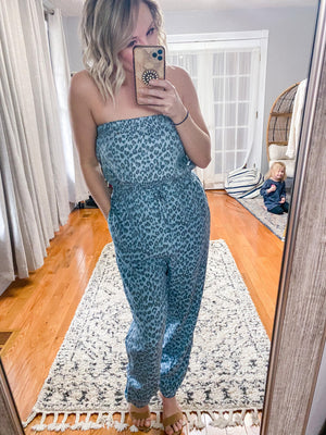 Maliah Leopard Tube Top Jumpsuit