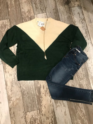 Haley Colorblock Sweater