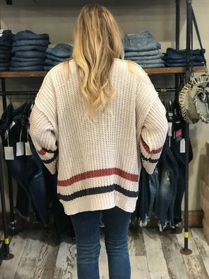 Catherine Cardigan with Stripe Detailing